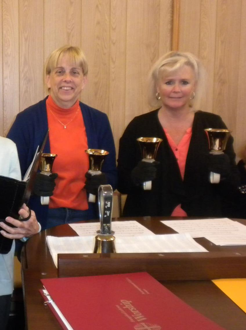Brenda and Kelley, just a couple of our Bell Choir Ringers!
