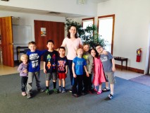 Becky with the Cherub Choir