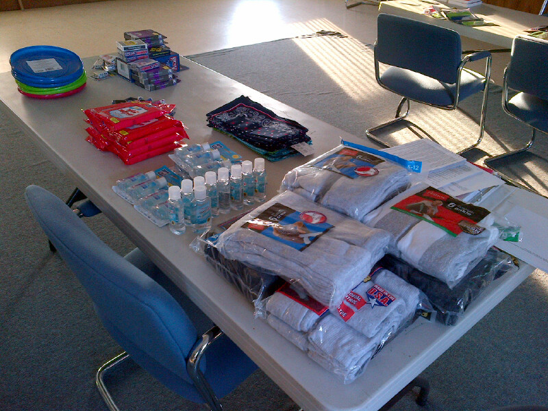 Military Care Package Assembly Line